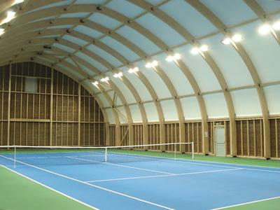 Article innovation le 1er tennis couvert quip d 39 un for Mesure terrain de tennis