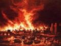 Le grand incendie de Londres...
