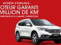 Honda, une garantie de 1 million de km...