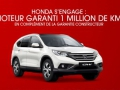 Honda garantie 1 million de km...