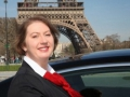 Lady chauffeur in paris