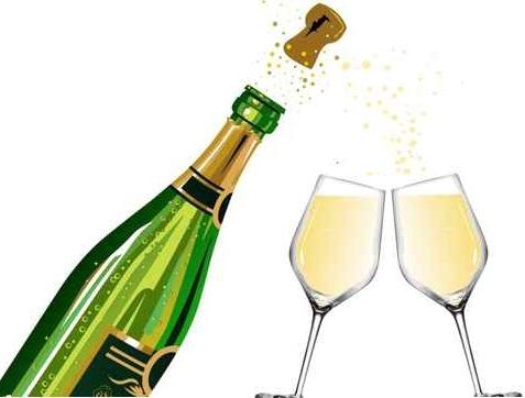 Champagne qui explose