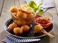 Pommes dauphine fourrées à la mozzarella...